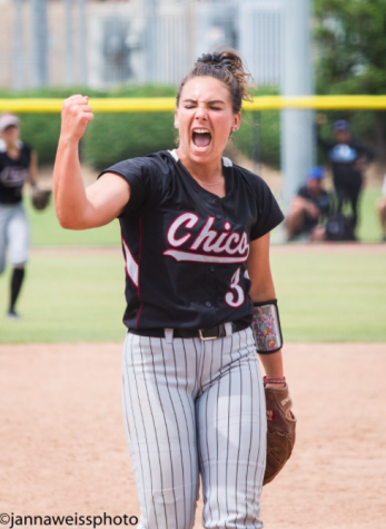 Pitcher Haley Gilham won Most Valuable in the Tournament as well as being named to the CCAA All-Tournament Team. Photo Courtesy: Janna Weiss Photography. Photo credit: Janna Weiss
