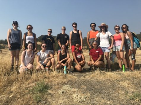 Several new students, freshmen and transfers, joined Adventure Outings leaders on a hike to Bear Hole in Upper Bidwell Monday. Photo credit: Justin Jackson