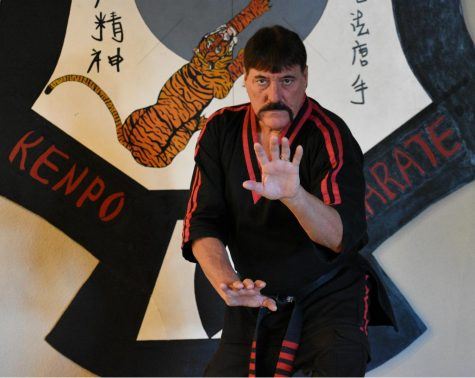 Chuck Epperson practices one of his favorite American Kenpo Karate fighting stances. Photo credit: Alex Grant
