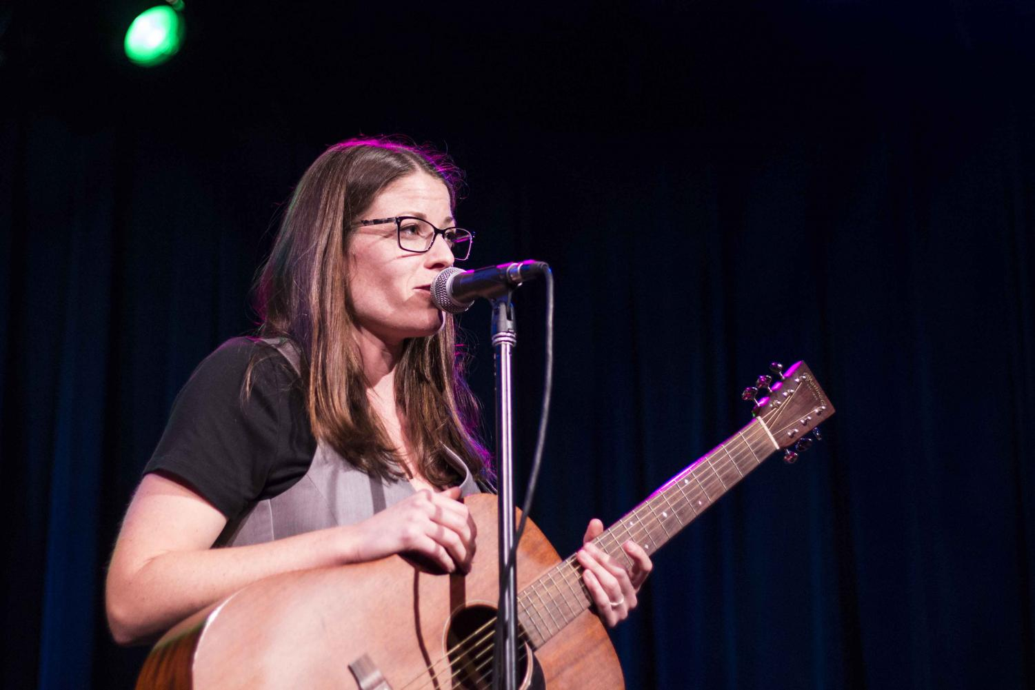 Katie+Barrett+before+performing+her+song+%22Thought+of+You%22+Thursday+evening+at+Sierra+Nevada+Brewing+Co.%27s+Big+Room.+Photo+credit%3A+Brian+Luong