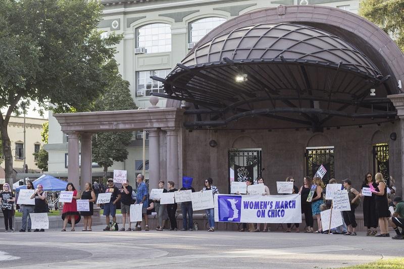 Protesters fill Chico City Plaza denouncing Supreme Court Nominee Brett Kavanaugh