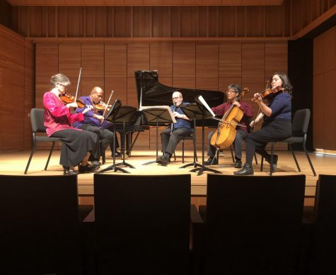 The Florestan Society preforming in Zingg Recital Hall Photo credit: Alex Coba