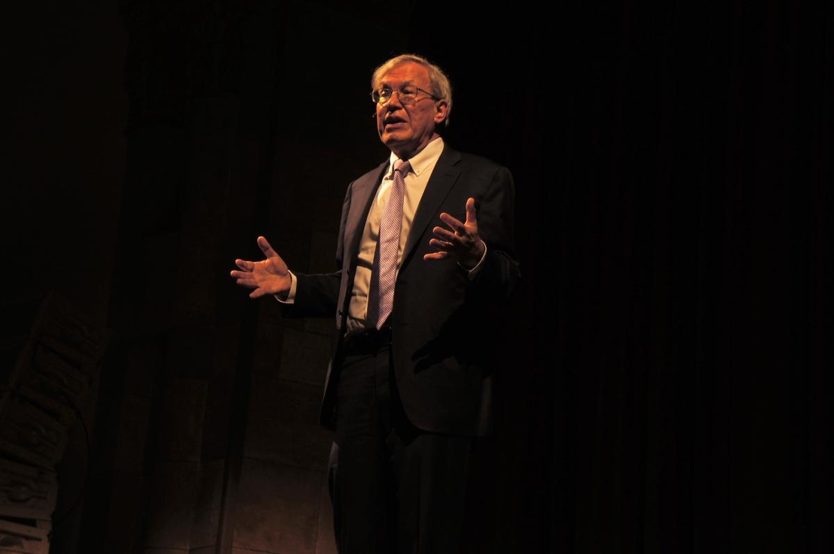 Erwin Chemerinsky speaking at Laxon Auditorium. Photo credit: Keelie Lewis