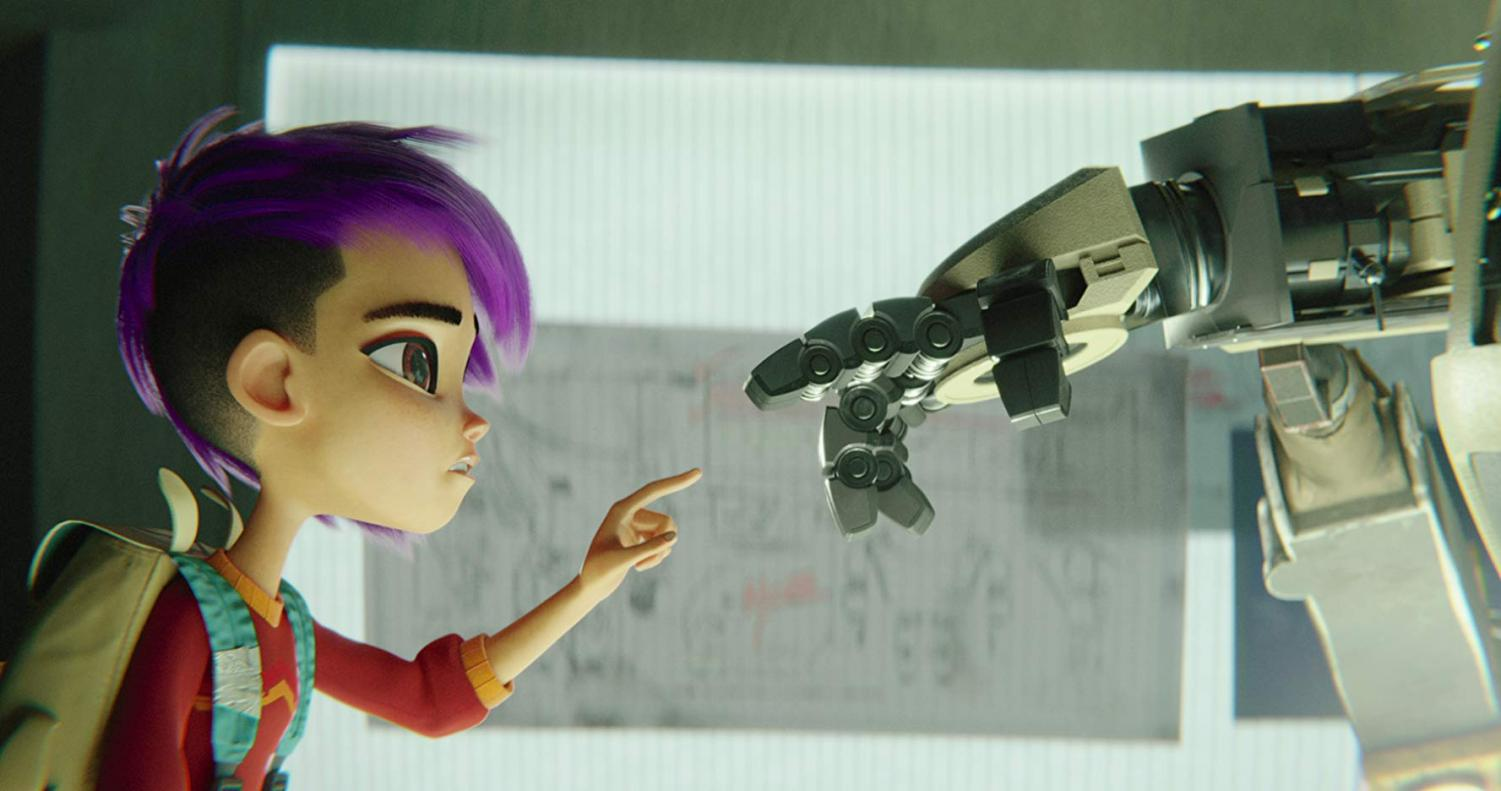A scene from the new animated film from Netflix,
