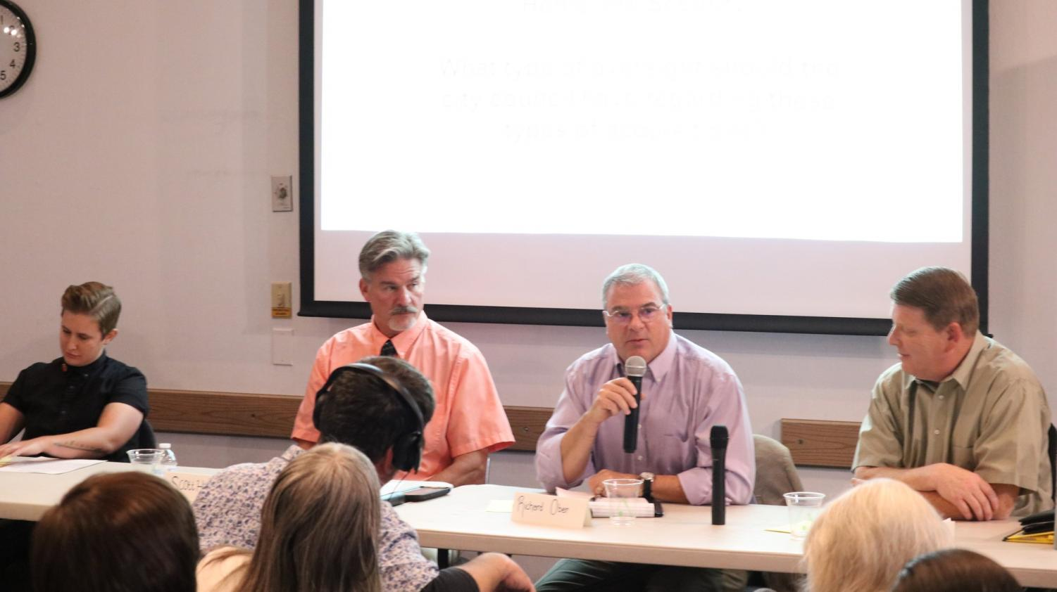 Candidates from left to right; Alex Brown, Scott Huber, Rich Ober, Ken Rensink Photo credit: Christian Solis