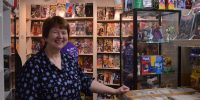 Halloween comics costume fest held at Collector's Ink shop