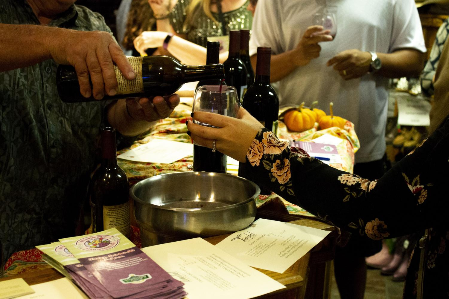 Wine is poured throughout Chico as many come together to enjoy some beautiful artwork. Photo credit: Dominique Wood