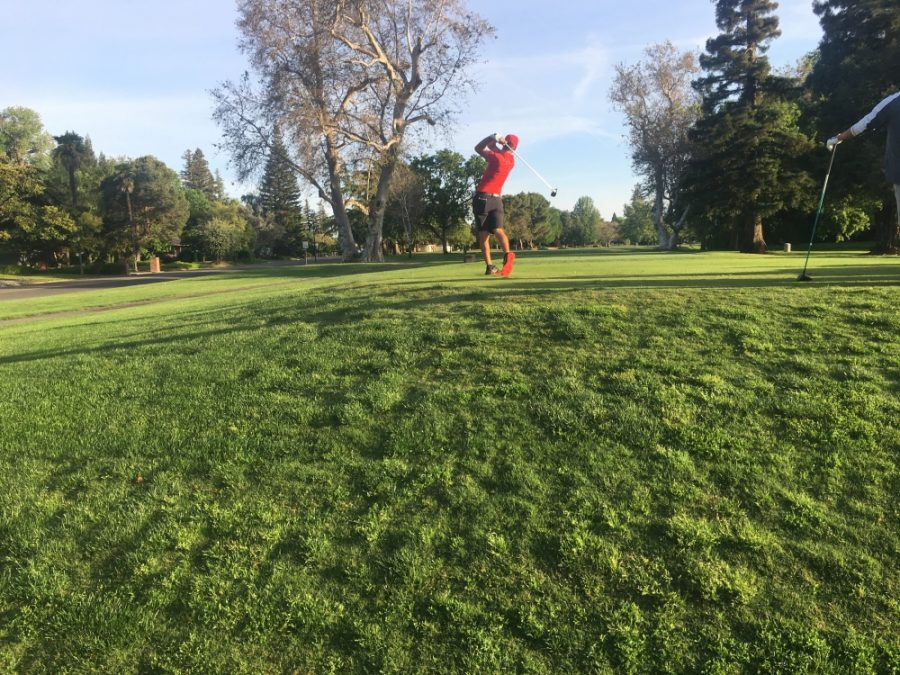 Kelley+Sullivan+tees+off+on+day+one+of+the+2018+CCAA+Championships+at+Butte+Creek+Country+Club+in+Chico+in+this+archived+photo.+Photo+credit%3A+Andrew+Baumgartner