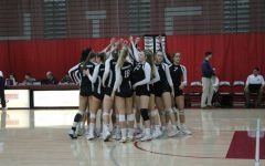 Wildcats pump themselves up for their match against Humboldt State on Saturday. Photo credit: Ricardo Tovar