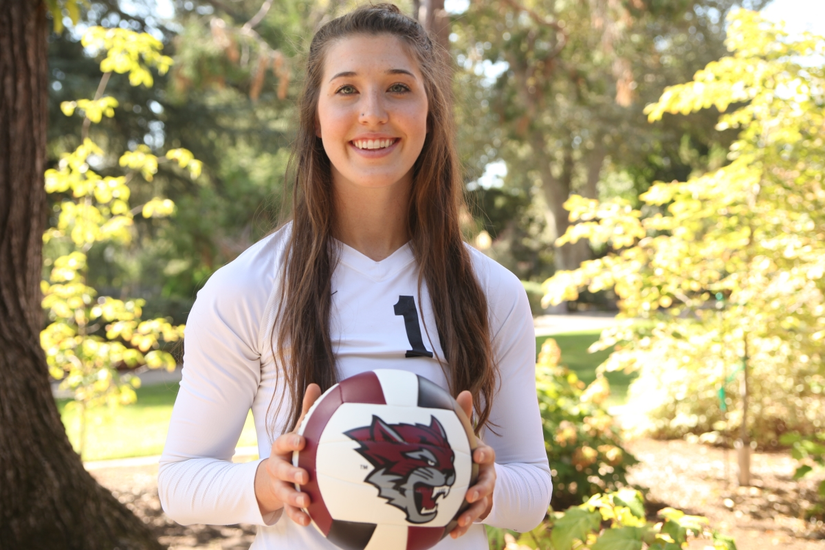 Bekah Boyle leads the Chico State volleyball team in kills so far this season. Photo credit: Amy Heckeroth