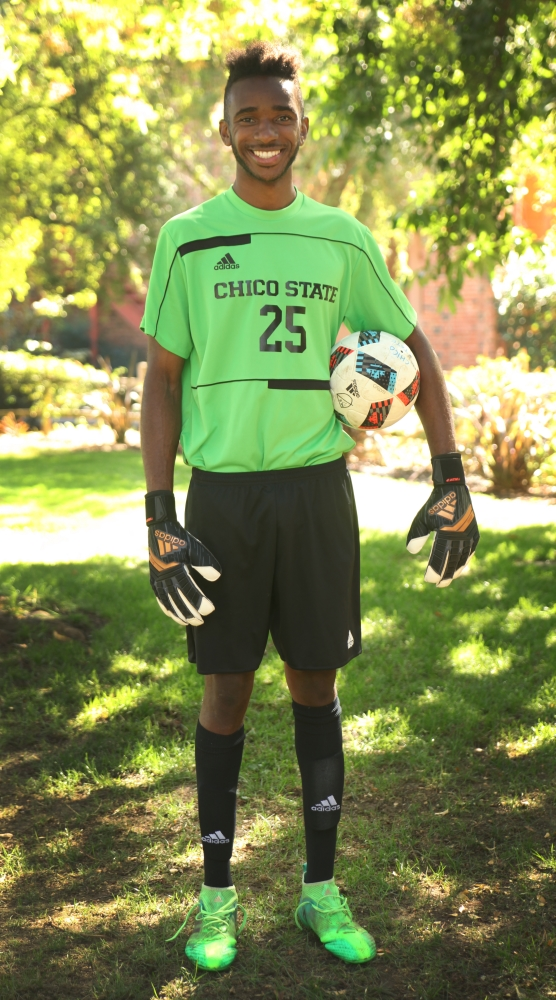 Chico State goalkeeper Damion Lewis has started every game this season for the Wildcats. Photo credit: Maury Montalvo