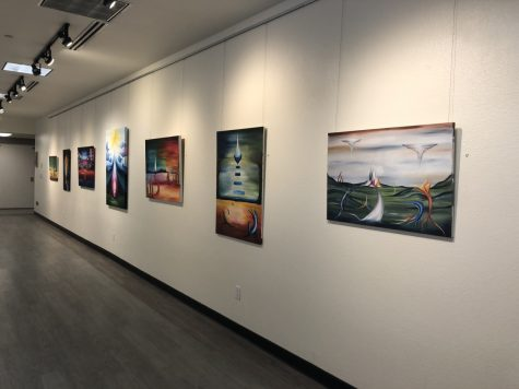 """Vitality"" by Megan Wade is displayed on the third floor gallery of the Bell Memorial Union. Photo credit: Natalie Hanson"
