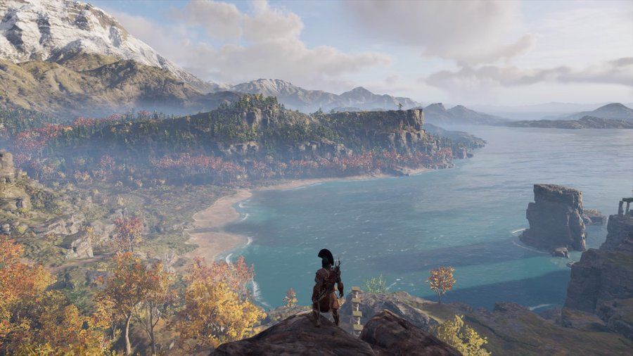 The main character looks on at what lies ahead. Image from Ubisoft. Photo credit: Ulises Duenas