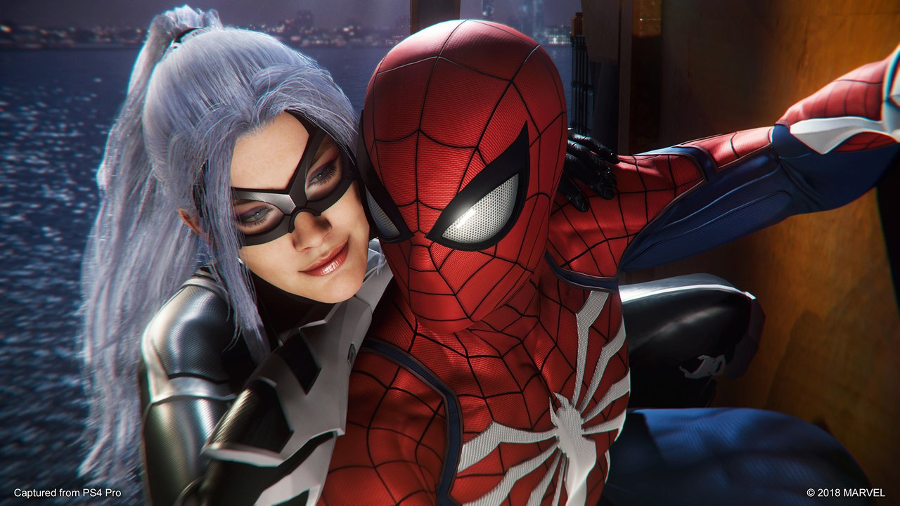 Black Cat and Spider-Man in the new PS4 game. Image from Playstation.