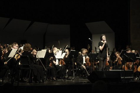 Scott Seaton conducted the North State Symphony on a Saturday Night at the Laxson Auditorium, Chico State. Photo credit: Tara Killoran