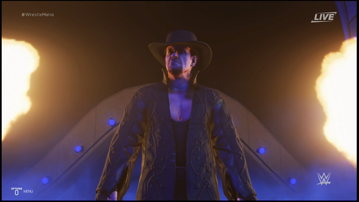 The Undertaker making his signature entrance. Photo screenshotted by Ulises Duenas.