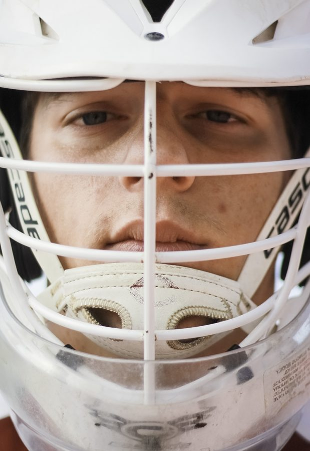 Gavin Risbry is the Chico State Lacrosse team's goalie, a position many are unwilling to take due to fear of being hit by the ball. Photo credit: Tara Killoran