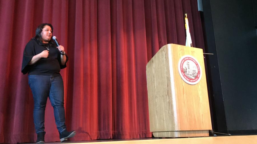 Sonia Aery giving her keynote Photo credit: Justin Jackson