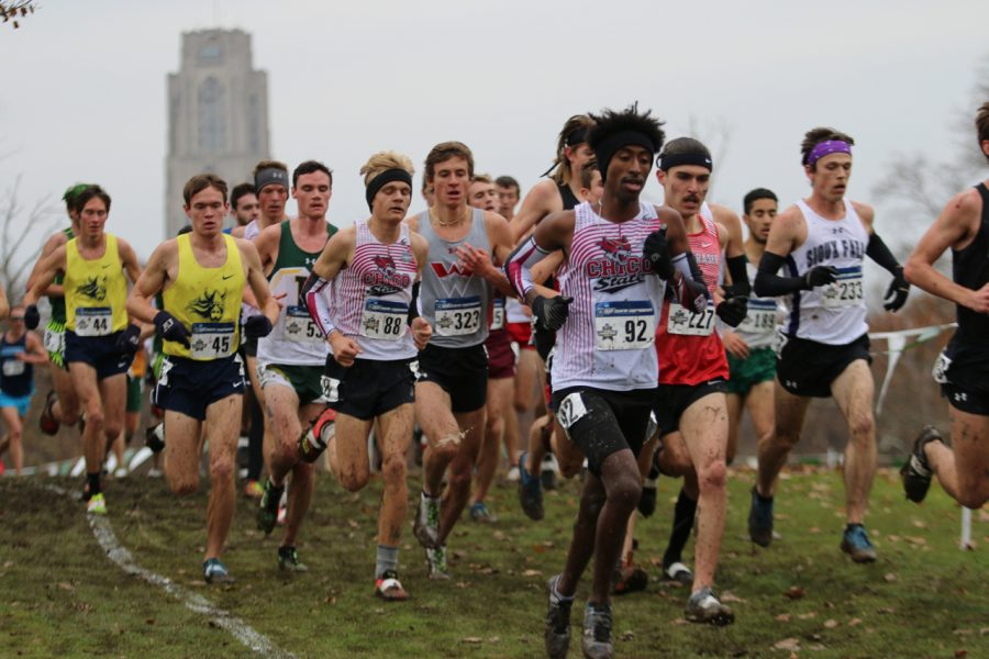 Jack+Emanuel+and+Teddy+Kassa+participate+in+the+NCAA+championships+in+Pittsburgh.+Image+courtesy+of+Gary+Towne.