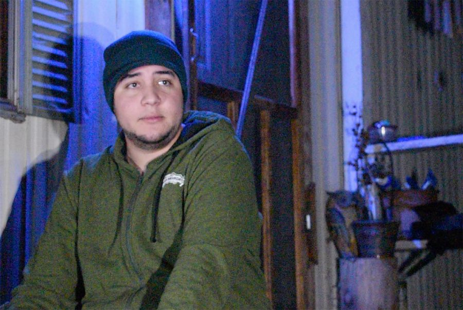Tyler Garcia, 19, talks about how he and his family decided to stay in their home off of Honey Run Road despite the evacuation orders for the Camp Fire and the flash flood warnings. Photo credit: Alex Grant