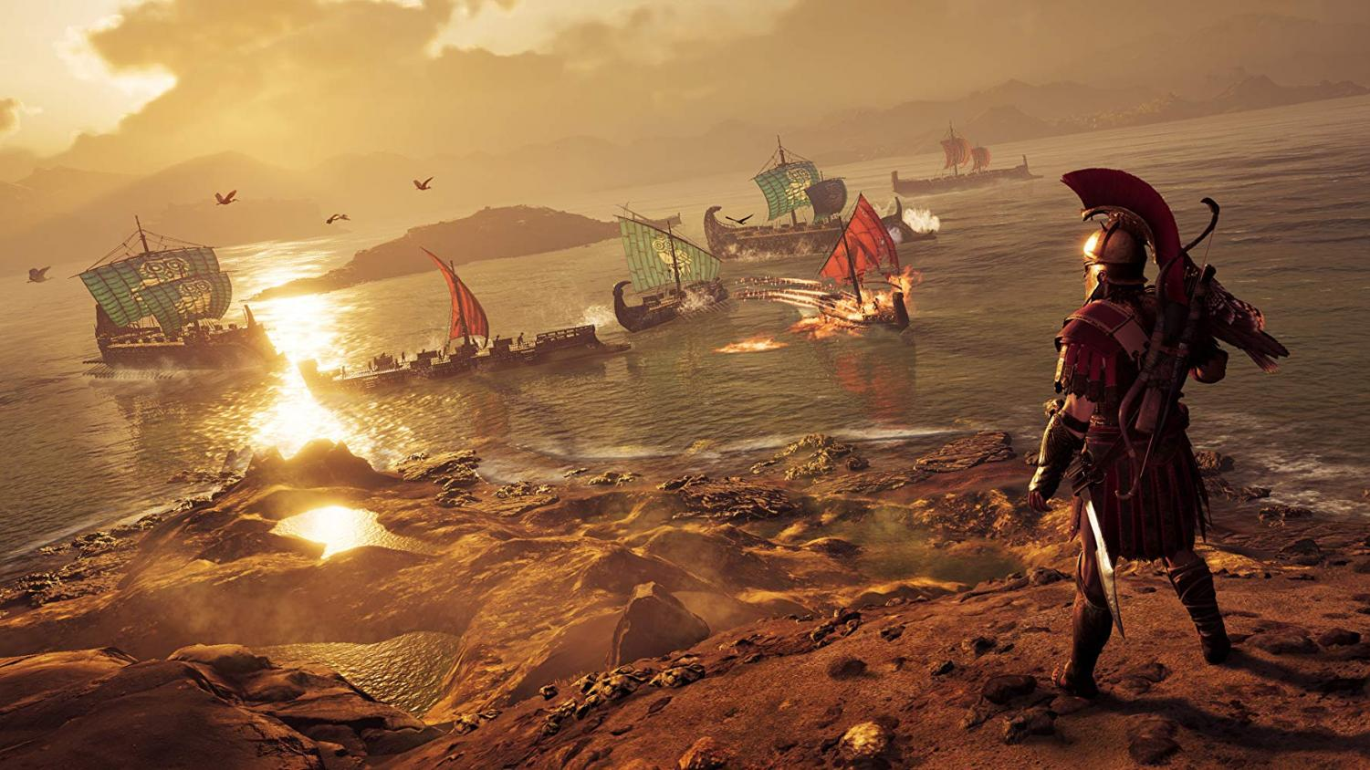 Alexios overlooks a naval battle. Image from imdb.com