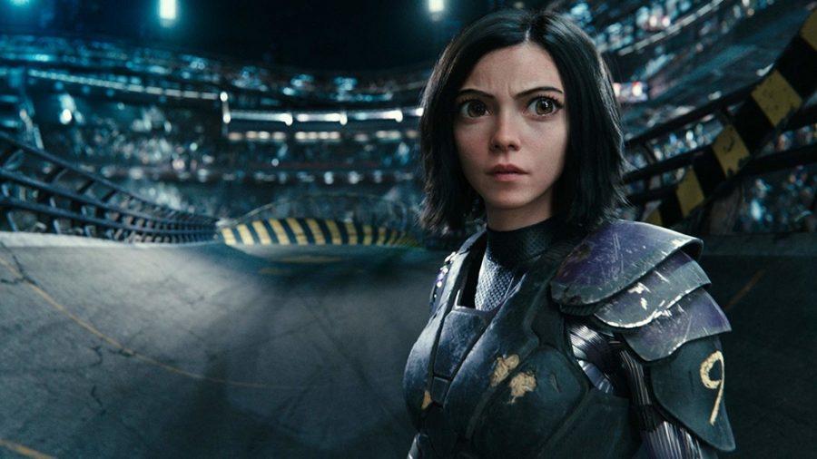 Rosa Salazar stars as Alita, a female cyborg, in Alita: Battle Angel.  IMDb website photo