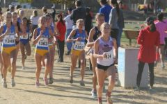 Alexandria Tucker leads the way at the Bronco Invitational in this archived photo. Photo credit: Gary Towne