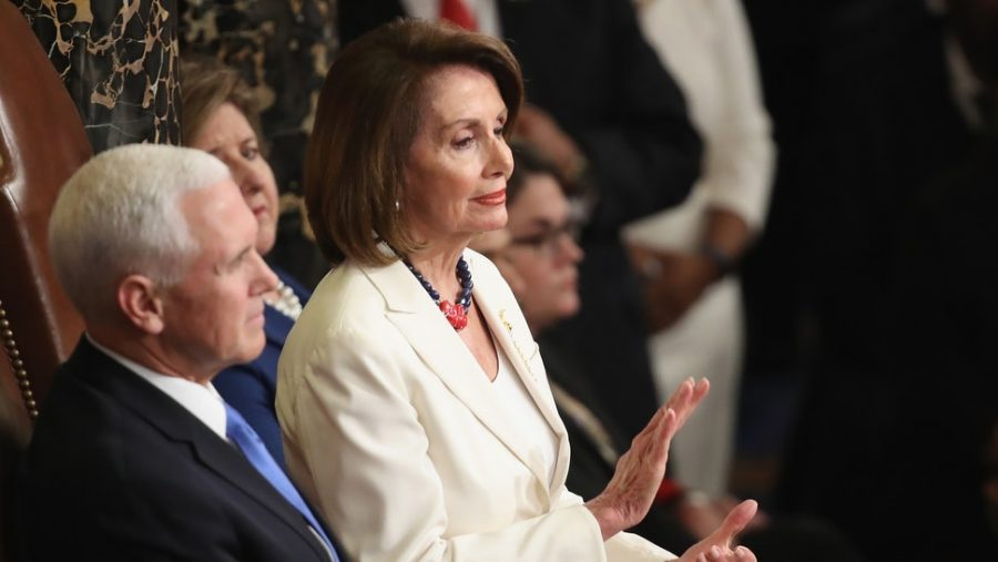Nancy+Pelosi%27s+clap+had+the+attention+of+many+at+the+2019+State+of+the+Union+address.+Image+from+bustle.com.