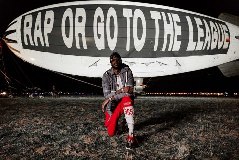 2 Chainz publicizes his album by displying it on a blimp Photo credit: Joe Moore Productions