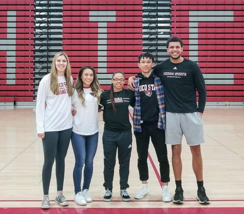 Left to right: Mckena Barker, Madison Wong, Shay Stark, Isaiah Brooks, Malik Duffy Photo credit: Brandon Downs