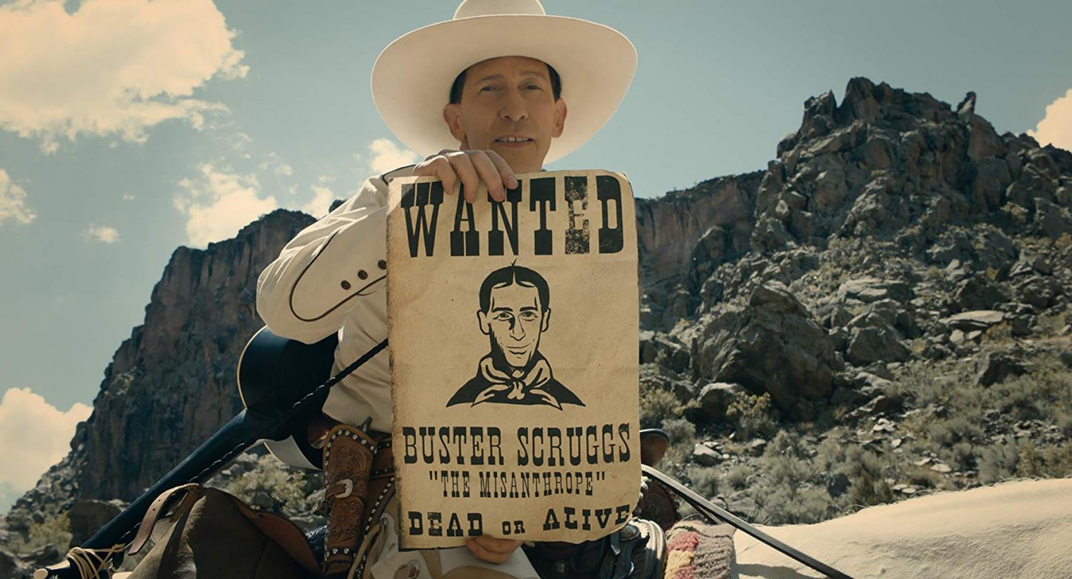 Tim Blake Nelson stars as Buster Scruggs, the main character featured in one of six short films in