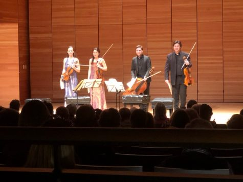 The Minetti Quartett receives applause just before intermission. Photo credit: Mitchell Kret