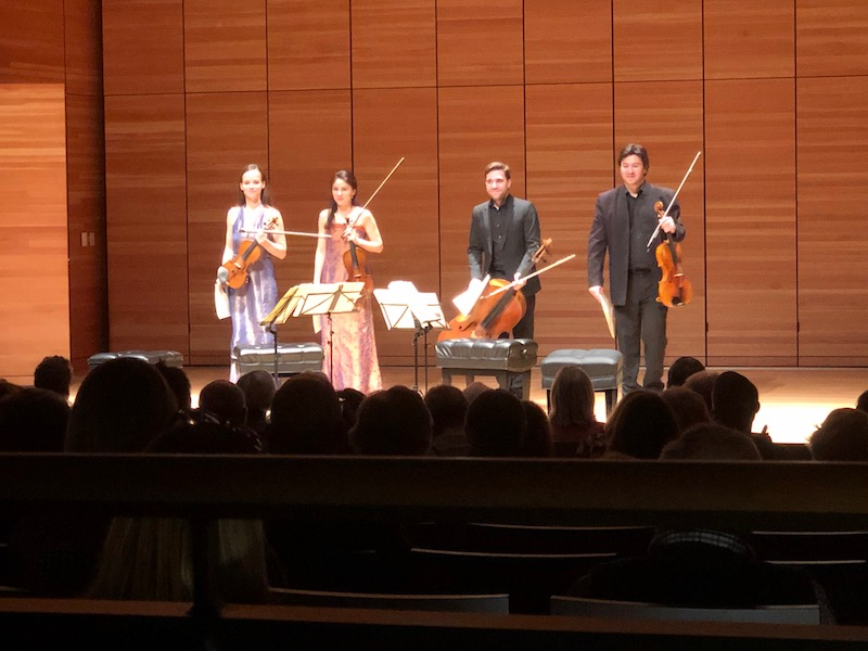 The+Minetti+Quartett+receives+applause+just+before+intermission.+Photo+credit%3A+Mitchell+Kret
