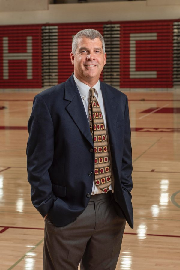 Head coach Brian Fogel finished his 11th season for the womens basketball team. He ended the season with a 12-13 record. Photographed in Acker Gym on Tuesday, October 9, 2018. Image credit: Chico State sports information