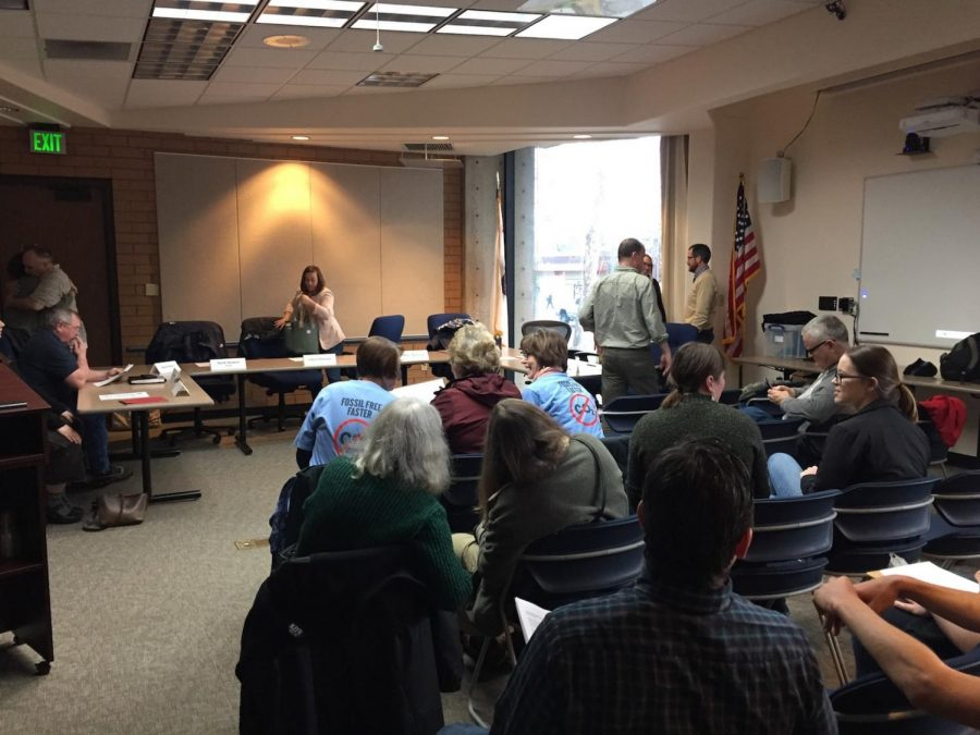 The Sustainability Task Force held a meeting Thursday evening detailing making the task force a commission at the Municipal Center. Photo credit: Nate Rettinger