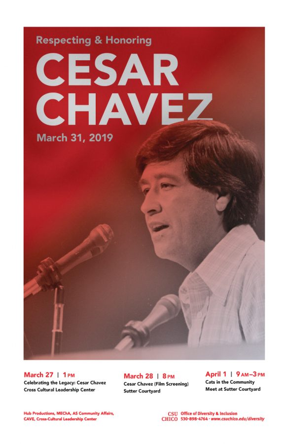 The+campaign+for+this+year%27s+safe+celebration+of+Cesar+Chavez+Day+is+sponsored+by+MEChA%2C+Associated+Students%2C+University+Housing%2C+CADEC%2C+CAVE%2C++and+the+Office+of+Diversity+and+Inclusion.+Image+from+Chico+State+Office+of+Diversity+and+Inclusion.