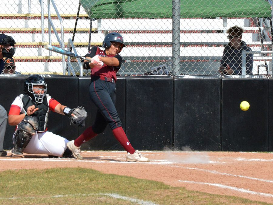 Ari+Marsh+became+Chico+State%27s+hits+leader+with+an+opposite-field+single+to+left+in+the+top+of+the+third+inning+in+game+two.+Photo+credit%3A+Olyvia+Simpson