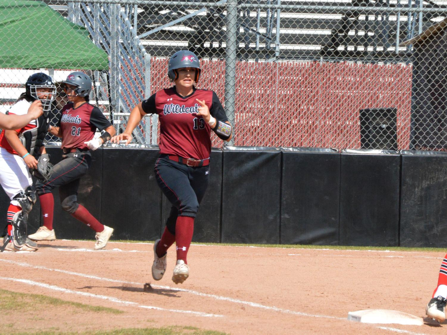 f86f00466c3f Bailey Akins went three for zero with a run and walk in game one. In game  two she went 3-for-5 with an RBI. Photo credit: Olyvia Simpson