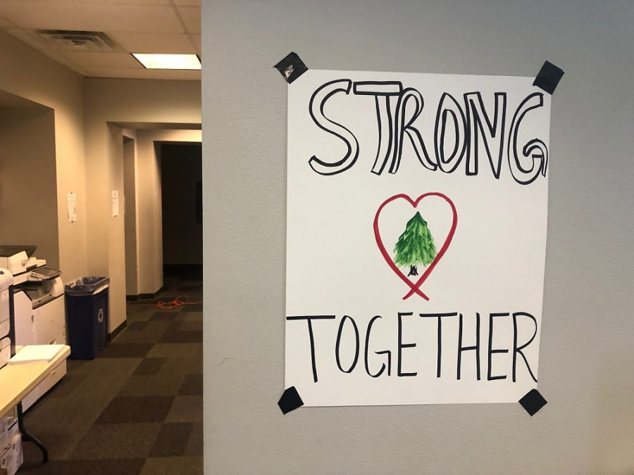 Posters are hung all throughout Paradise High School's current building, empowering students to stay strong Photo credit: Trenton Taylor