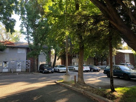 The apartment complex near the 1000 block of cColumbus Ave. in Chico, where Morales was arrested last week. Photo credit: Ricardo Tovar