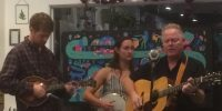 Chico State students play live Bluegrass music in downtown