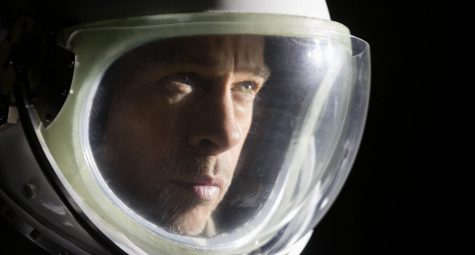Brad Pitt stars as Roy McBride, an astronaut who travels to the deep Solar System is search of his father who went missing over 20 years prior.  Ad Astra/Fox Movies website photo