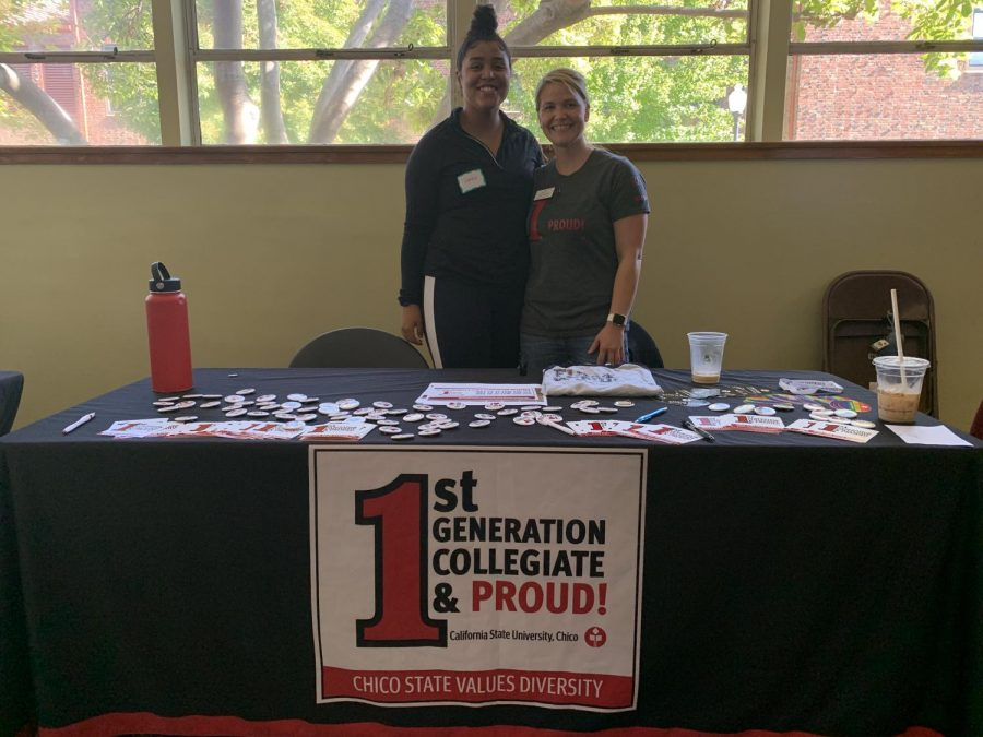 First gen volunteers are happy to inform students about the program. Photo credit: Angelina Mendez