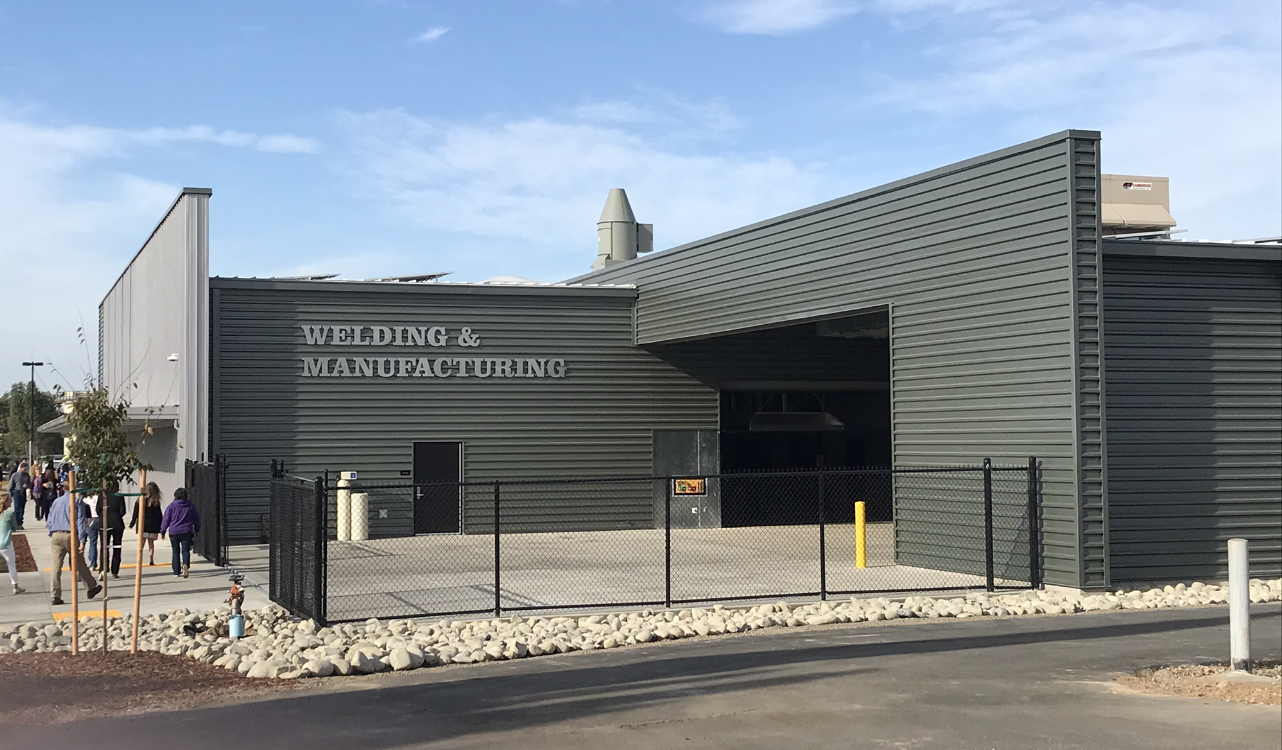 A new welding and manufacturing building has been opened at Butte College Photo credit: Jessie Imhoff