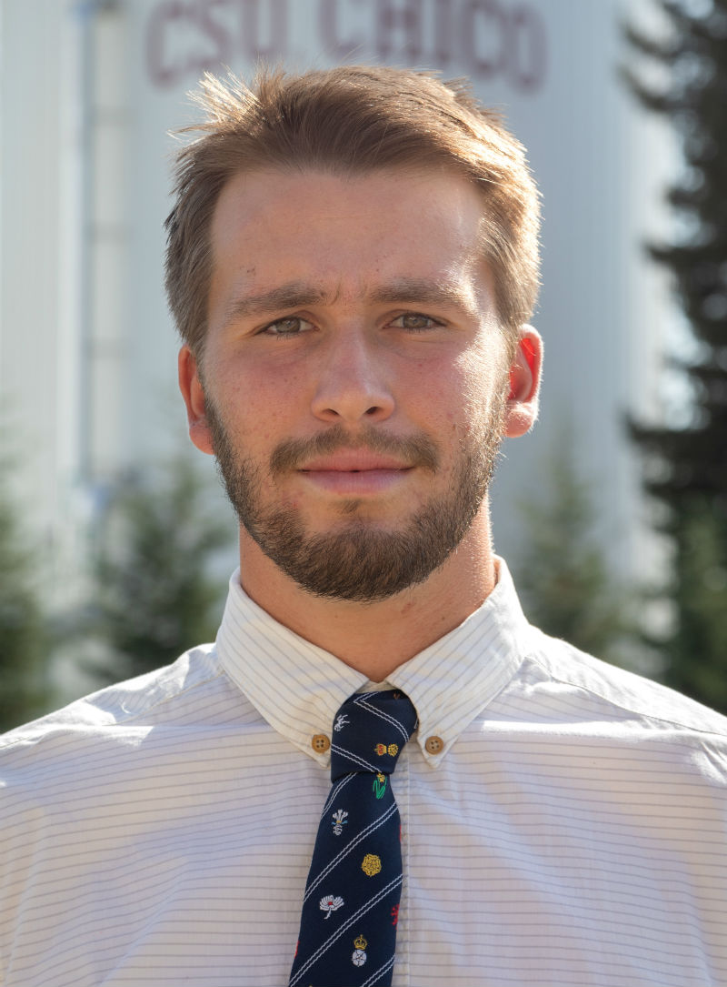 Christopher Colla is currently a senior on the men's golf team. Photo courtesy of Chico State Sports Information.