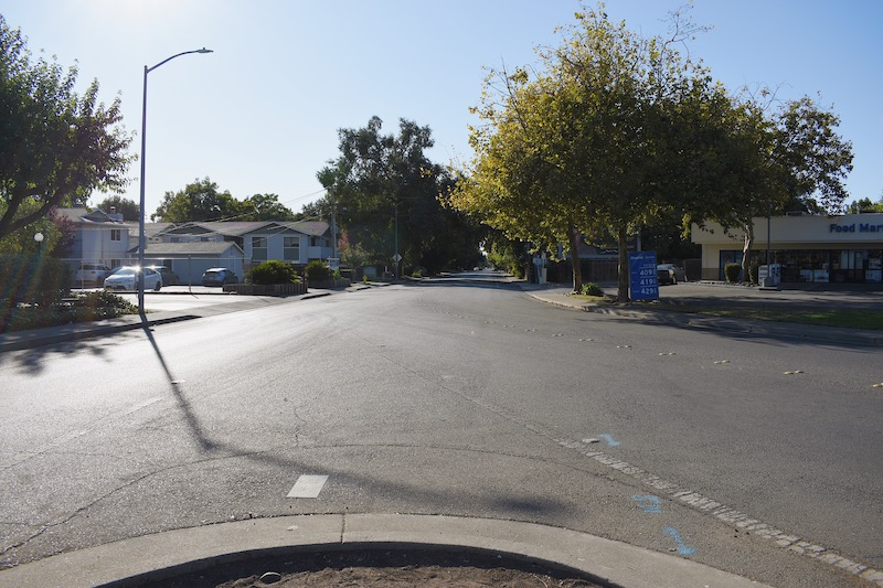 The block at West Sacramento and Nord Avenue where the incident was reported. Photo credit: Kimberly Morales