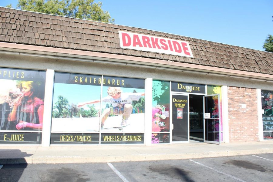 The smoke shop Darkside sells multiple different vaping products. Photo credit: Julian Mendoza