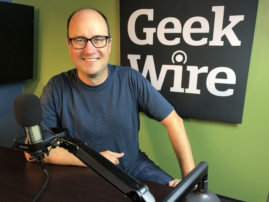 Todd Bishop the co-founder of Geek Wire and 1996 Chico State graduate in Journalism and Business Administration.  Image Credit: Kurt Schlosser