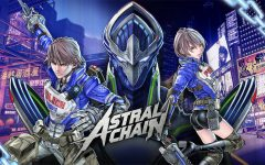 From left to right: Astral Chain's male protagonist, the