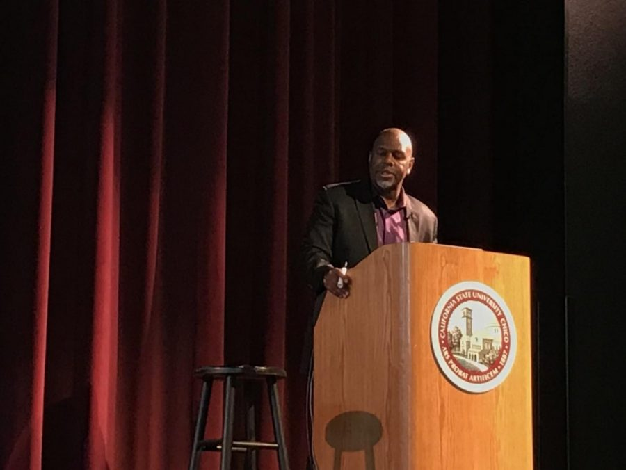 Documentary filmmaker Byron Hurt spoke at he BMU about how toxic masculinity is deeply rooted within our society. Photo credit: Danielle Kessler